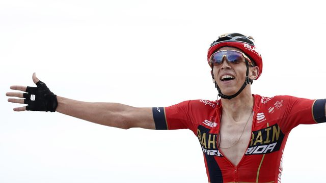 Le belge Dylan Teuns remporte la 6e étape du tour de France.  [Yoan Valat - EPA-Keystone]
