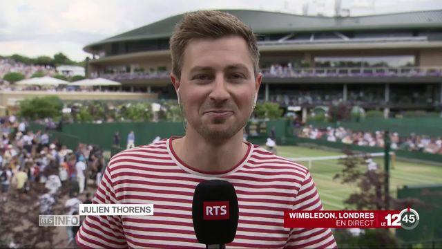 Rencontre très attendue entre Federer et Nadal à Wimbledon. Le commentaire de Julien Thorens. [RTS]