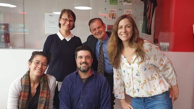 Sarah Gysler, Arianne Devanthery, Valerio Simoni, Claude Béglé et Anne-Laure Gannac. [RTS]