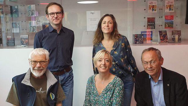 Daniel Chérix, Antoine Chollet, Brigitte Rosset, Anne-Laure Gannac et Olivier Français. [RTS]