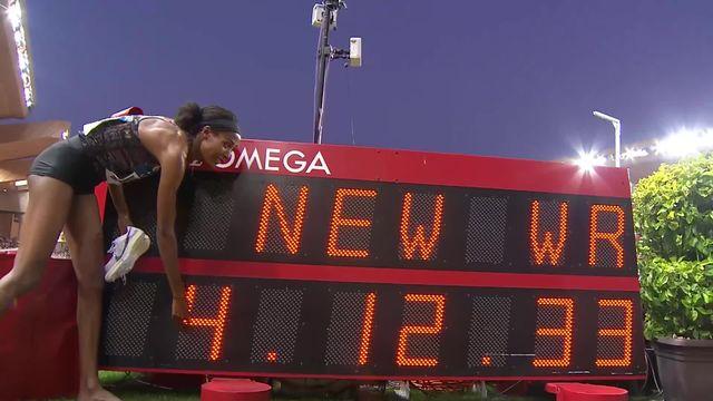 Monaco (MCO), 1 mile dames: record du monde pour la Néerlandaise Sifan Hassan (NED) [RTS]