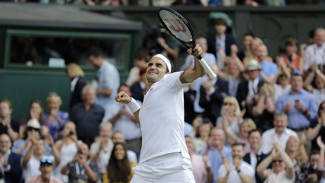 La 5e balle de match aura été la bonne pour Federer. [Ben Curtis - Keystone]