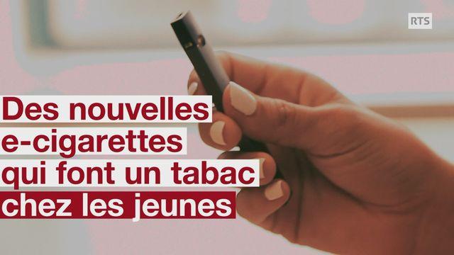 Des nouvelles cigarettes électroniques qui font un tabac chez les jeunes [RTS]