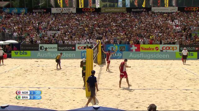 1-2, Norvège - Brésil (21-18, 21-14): la Norvège rejoint les Pays-Bas en finale [RTS]