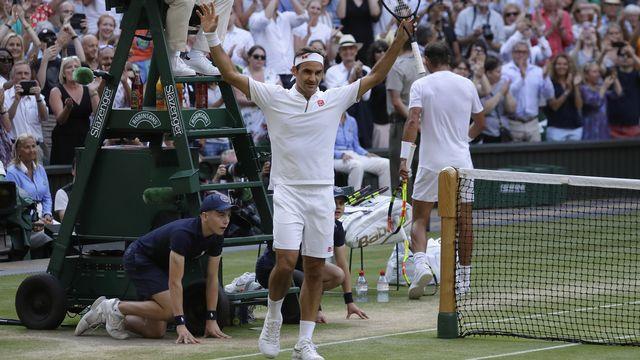 Roger Federer sera en quête d'un 21e titre du Grand Chelem ce dimanche à Londres. [Kirsty Wigglesworth - Keystone]