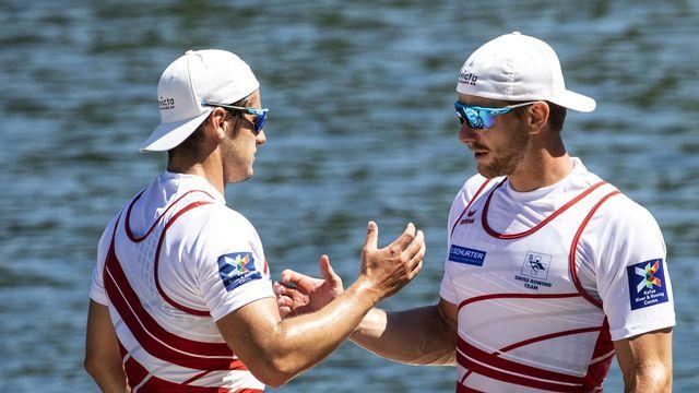 Le duo suisse décroche son deuxième succès d'affilée en Coupe du monde. [Alexandra Wey - Keystone]