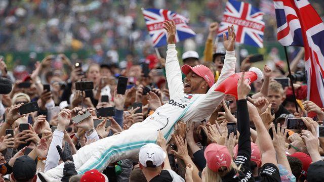 Lewis Hamilton s'est imposé pour la 6e fois à Silverstone, un record! [Valdrin Xhemaj - Keystone]