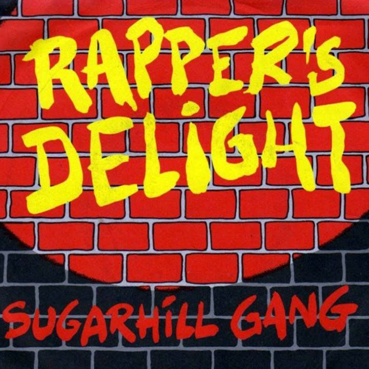 "Pochette du titre ""Rapper's Delight"" de Sugar Hill Gang."