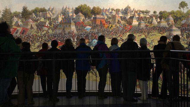Le Panorama de la bataillede Morat lors de l'Expo.02. [Eddy Risch - Keystone]