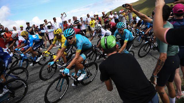 Sans forcer, Alaphilippe a pu garder son maillot jaune [Jeff Pachoud - AFP]
