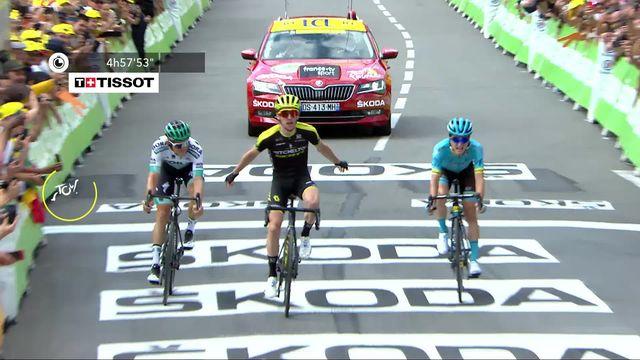 12e étape, Toulouse – Bagnères-de-Bigorre: Simon Yates (GBR) s'impose, Alaphilippe (FRA) reste en jaune [RTS]