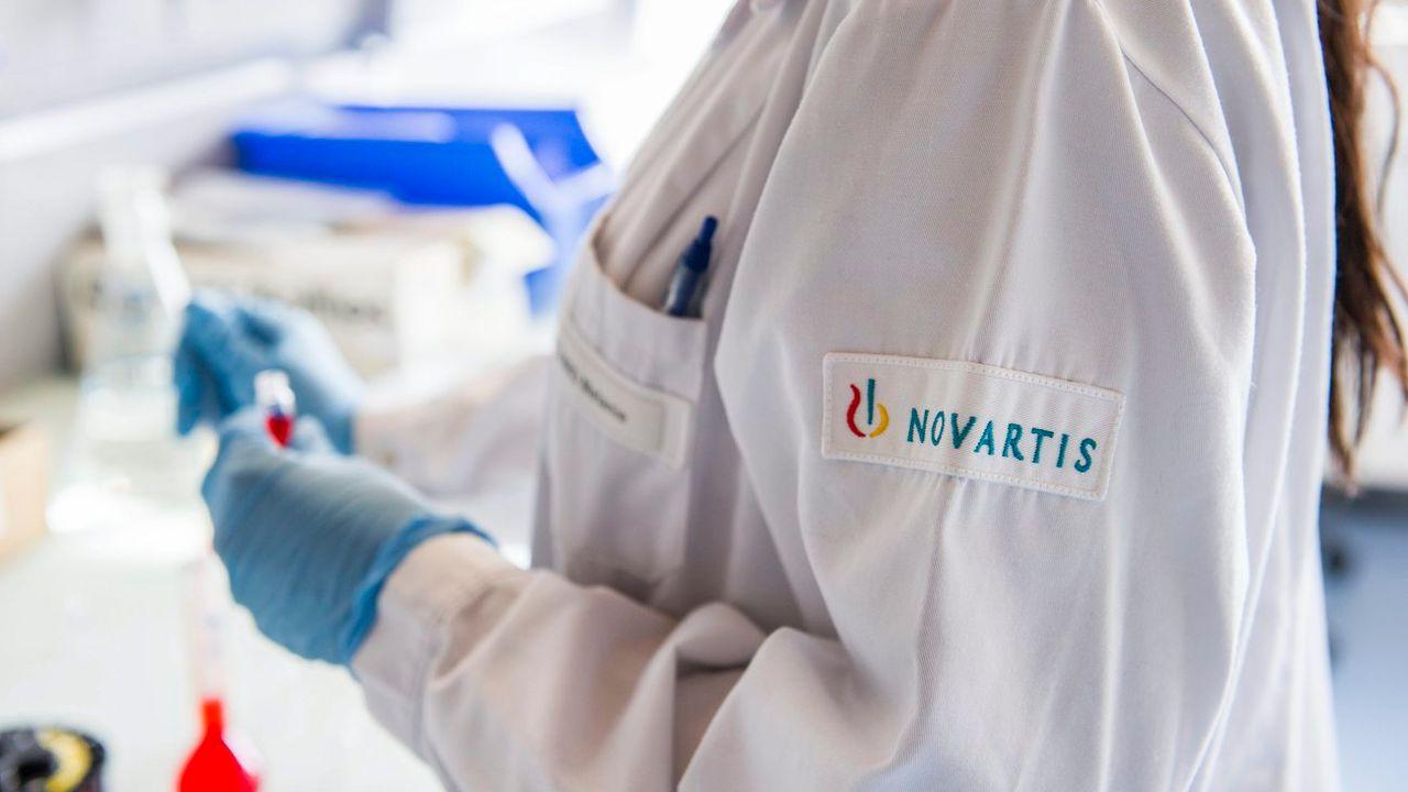Un laboratoire de l'unité de Recherche et Développement de Novartis à Prangins en 2012. [Yannick Bailly - Keystone]