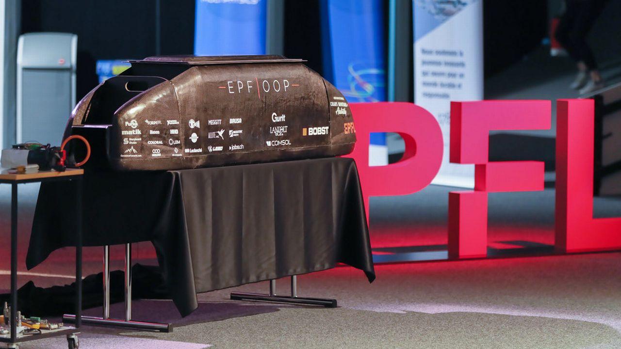 La capsule d'EPFLoop développée par l'EPFL. [Alain Herzog - EPFL]