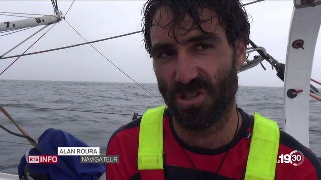 Le Genevois Alan Roura a battu le record de la traversée de l'Atlantique nord [RTS]