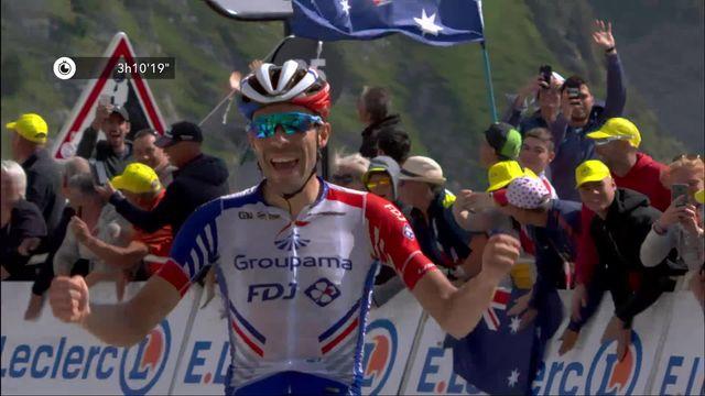 14e étape, Tarbes – Tourmalet Barèges: Thibaut Pinot (FRA) s'impose au sommet du Tourmalet [RTS]
