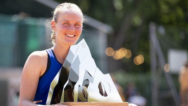Fiona Ferro va passer lundi de la 98e à la 74e place mondiale. [Laurent Gillieron - Keystone]