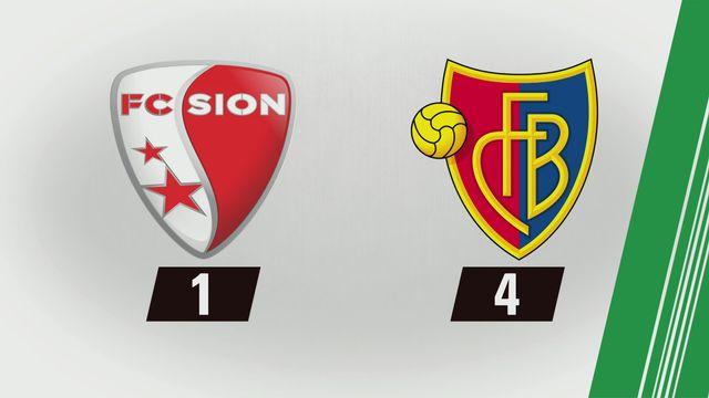 Super League, 1re journée: Sion - Bâle (1-4) [RTS]