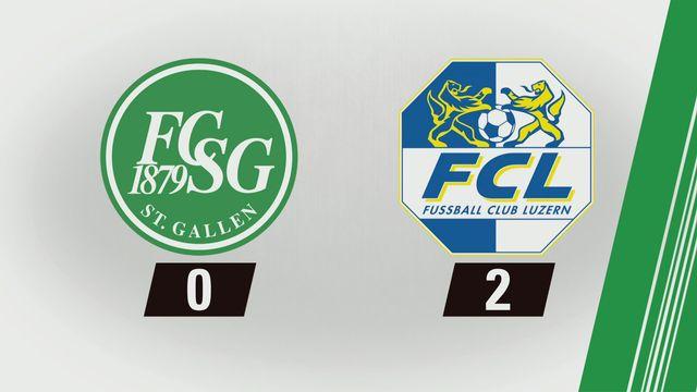 Super League, 1re journée: St-Gall - Lucerne (0-2) [RTS]