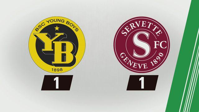Super League, 1re journée: Young Boys - Servette (1-1) [RTS]