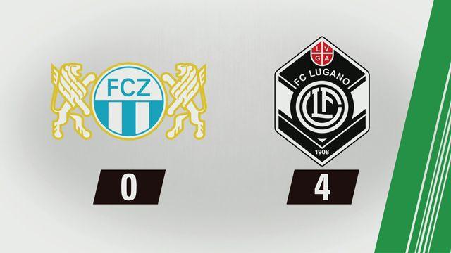 Super League, 1re journée: Zurich - Lugano (0-4) [RTS]