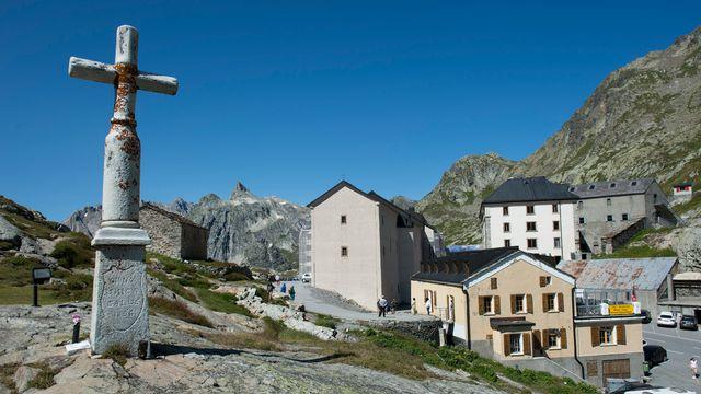 L'hospice du Grand-Saint-Bernard accueille des visiteurs depuis mille ans. [Jean-Christophe Bott - Keystone]