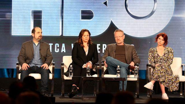 Certains acteur de la série Série Chernobyl. [Frederick M. Brown - Getty images north America/AFP]