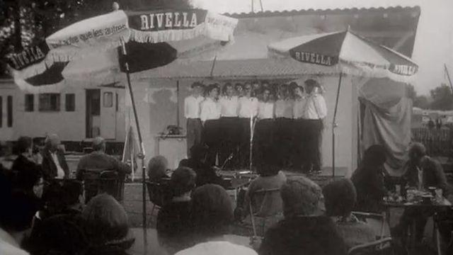 Culte au camping en 1962. [RTS]