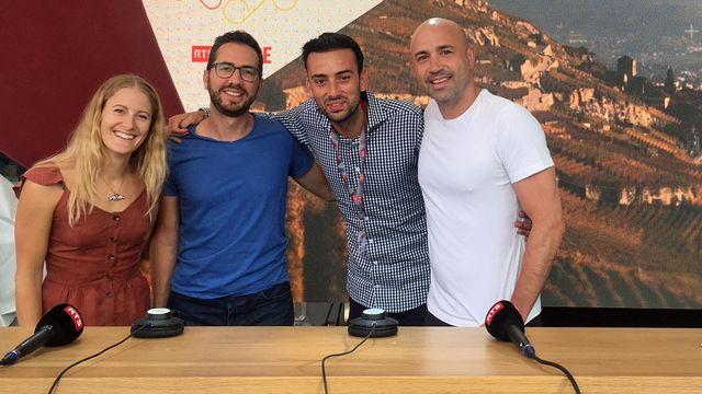 Fanny Smith, Yves-Alain Cornu, Jonas Schneiter et Frédéric Recrosio [Anouk Wehrli - RTS]