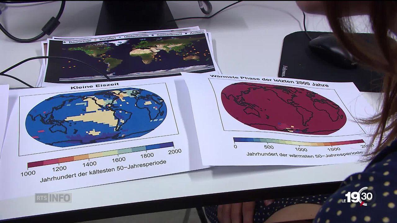 Il y a la canicule mais aussi le réchauffement climatique de la planète. Des études climatiques détaillent les données. [RTS]