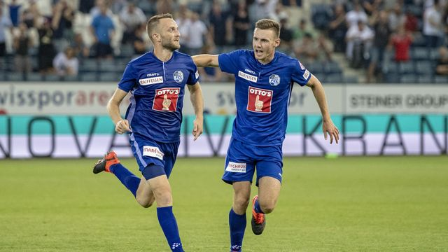 Christian Schneuwly a offert la victoire aux Lucernois au bout des arrêts de jeu. [Urs Flueeler - Keystone]