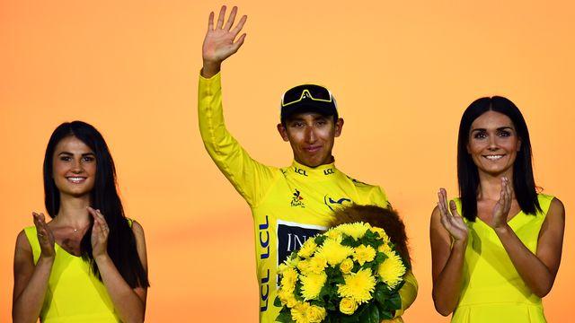 Egan Bernal est le premier Colombien à inscrire son nom au palmarès du Tour. [Marco Bertorello - AFP]