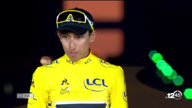 Egan Bernal, 22 ans, est le vainqueur du Tour de France. C'est le premier Colombien à remporter la Grande Boucle. [RTS]