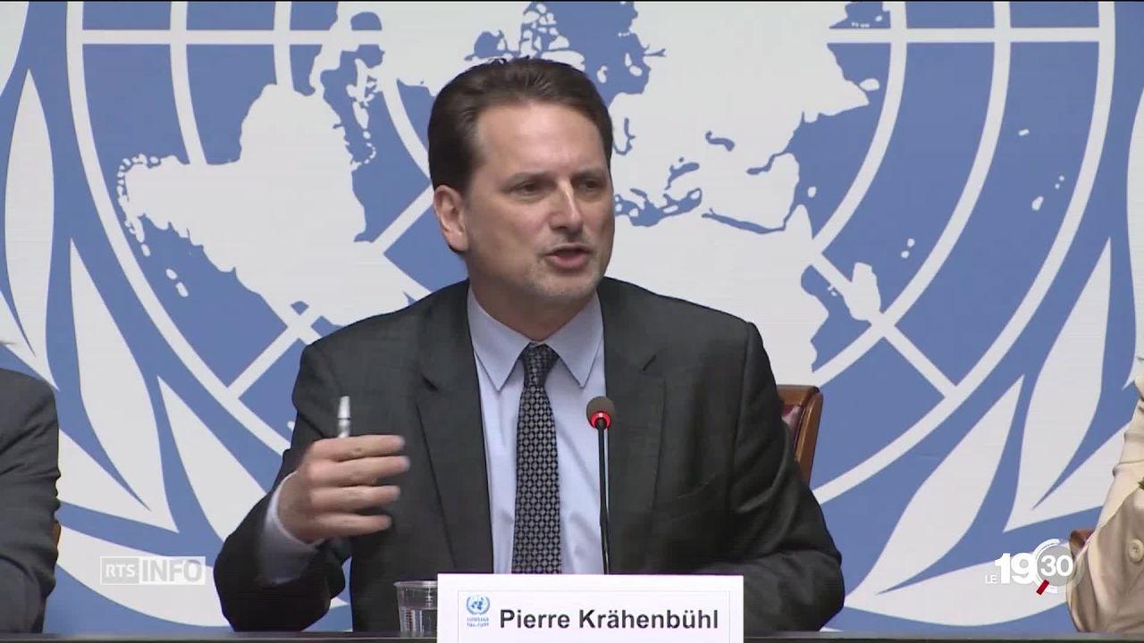Pierre Krähenbühl qui dirige l'UNRWA est au coeur d'une controverse qui touche son institution. [RTS]