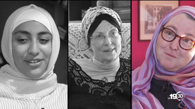 Dans le débat sur les droits des femmes le port du voile islamique divise les mouvements féministes. Trois témoignages. [RTS]