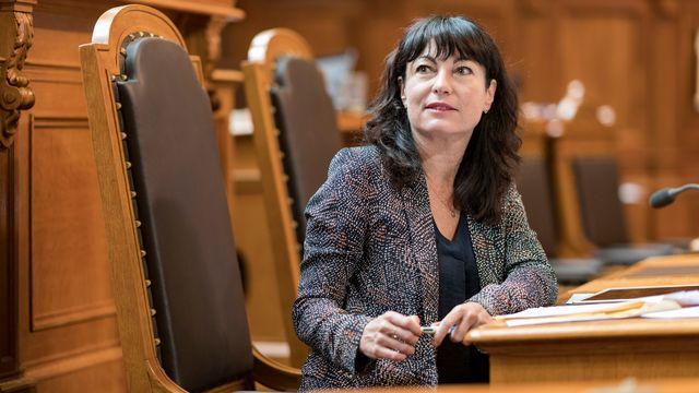Géraldine Savary lors de la session d'été du Parlement le 6 juin 2018. [Alessandro della Valle - Keystone]