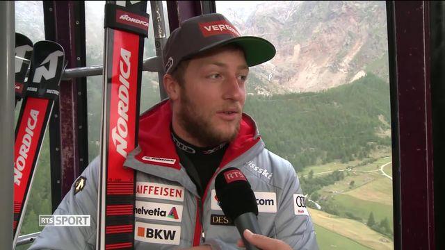 Ski alpin: Justin Murisier a enfin pu chausser les skis [RTS]