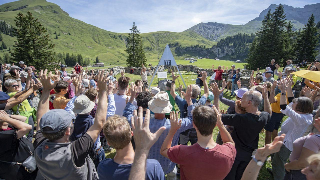 La landsgemeinde du canton d'Obwald était consacrée au climat. [Urs Flueeler - Keystone]