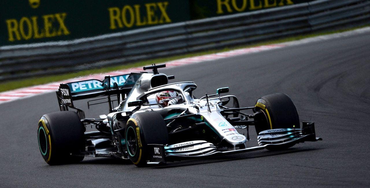 Lewis Hamilton a enlevé son huitième succès de la saison. Il semble parti pour remporter un nouveau titre mondial. [Keystone/ZOLTAN BALOGH ]
