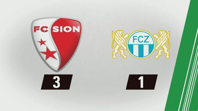 3e journée: Sion - Zurich (3-1) [RTS]