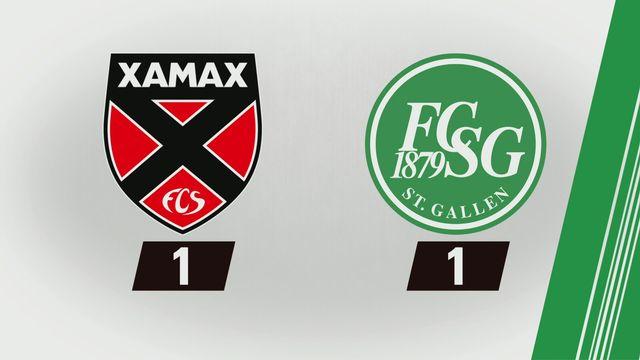 3e journée: NE Xamax - St-Gall (1-1) [RTS]