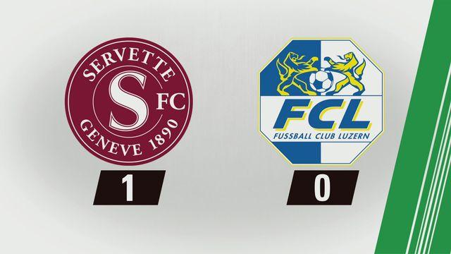 3e journée: Servette - Lucerne (1-0) [RTS]