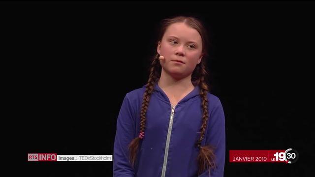 La difficulté d'être une icône de l'écologie pour Greta Thunberg. [RTS]