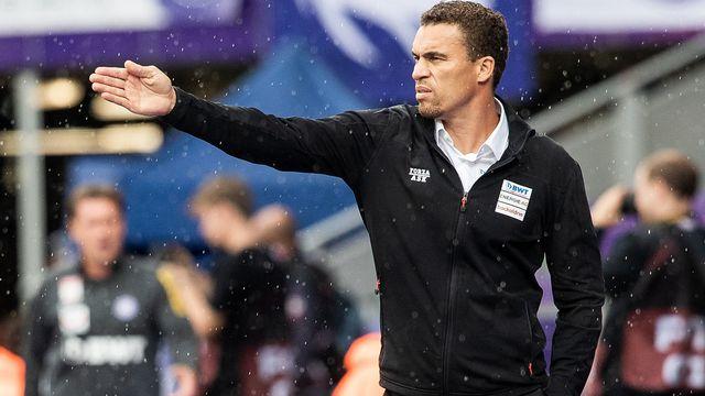 Valérien Ismaël, le coach de LASK, est la véritable vedette du groupe autrichien que le FC Bâle affrontera mercredi soir au Parc Saint-Jacques. [KEYSTONE/GEORG HOCHMUTH ]