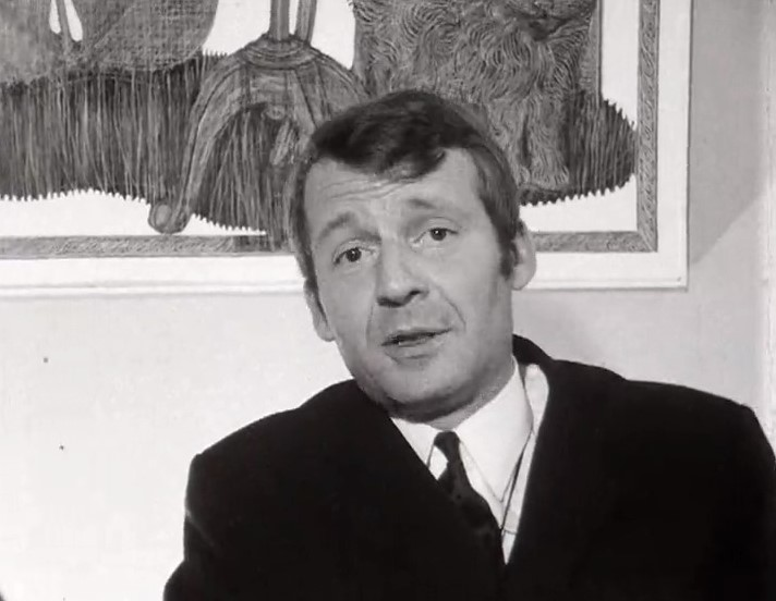Le journaliste Christian Defaye en 1968.