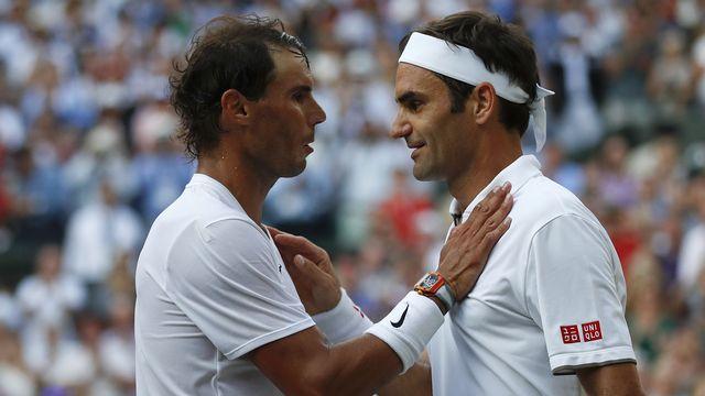 Rafael Nadal et Roger Federer font leur retour au conseil des joueurs. [Adrian Dennis - Keystone]