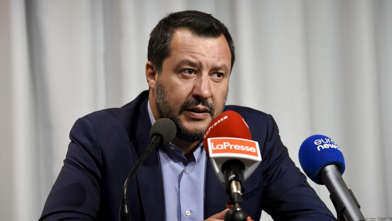 Matteo Salvini réclame des élections anticipées le plus vite possible. [Emmi Korhonen - Reuters]