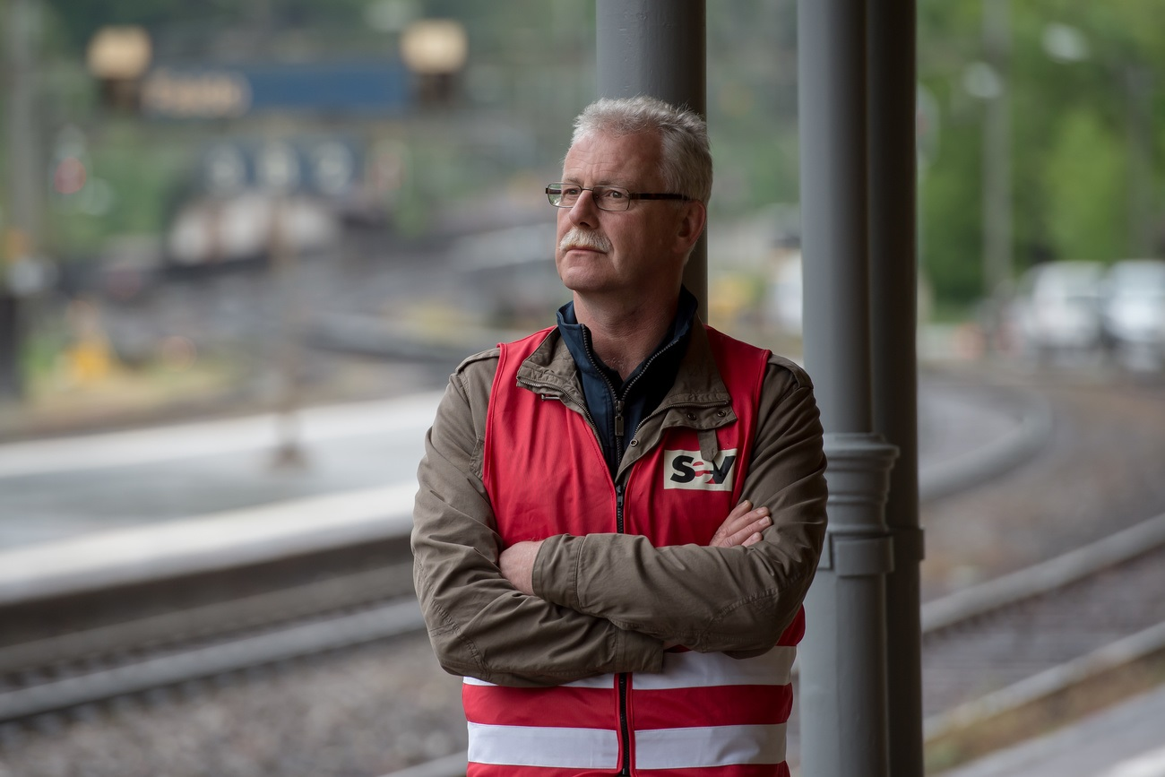 Andreas Menet, président du Syndicat du personnel du train.