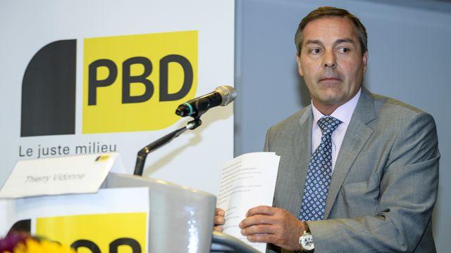 Thierry Vidonne, président démissionnaire du PBD Genève (ici, en août 2018). [Keystone]