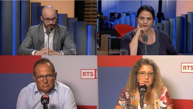 Baptiste Müller, Jean Pascal Luthi, Nadia Lamamra et Laura Perret. [RTS]