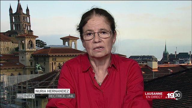 Marche pour le climat: l'analyse de Nuria Hernandez, rectrice de l'UNIL. [RTS]